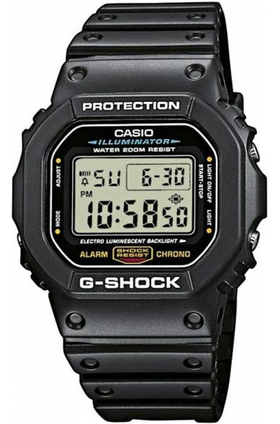 Противоударные кварцевые мужские наручные часы Casio DW-5600E-1V коллекции G-Shock купить в интернет магазине WorldOfWatch.ru