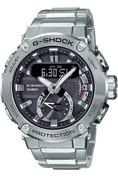 Противоударные кварцевые наручные часы на солнечной батарее Casio GST-B200D-1A коллекции G-Shock с модулем Bluetooth Smart купить в интернет магазине WorldOfWatch.ru