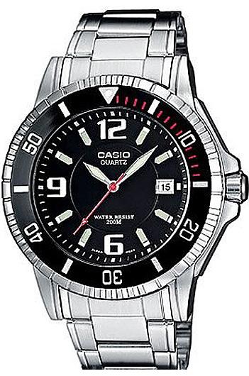 Мужские кварцевые водонепроницаемые часы Casio MTD-1053D-1A