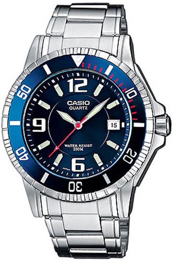 Мужские кварцевые водонепроницаемые часы Casio MTD-1053D-2A