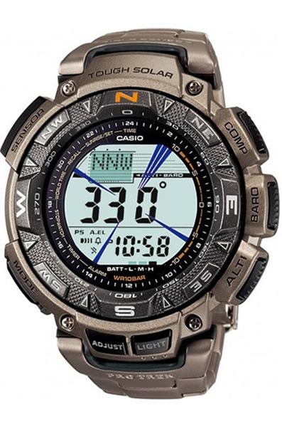 Многофункциональные наручные часы с компасом, термометром, барометром и высотомером Casio PRG-240T-7E коллекции Pro Trek купить в интернет магазине WorldOfWatch.ru