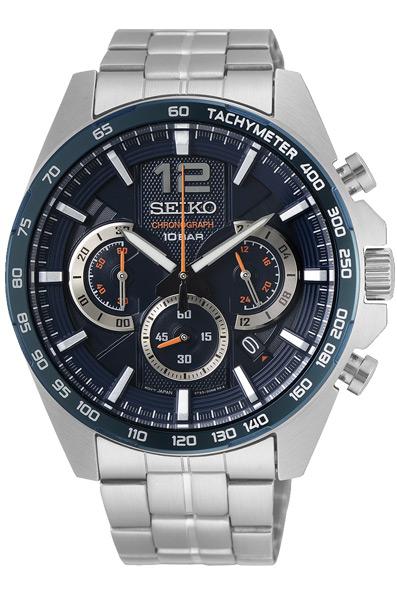 Мужские кварцевые наручные часы с хронографом (секундомером) Seiko SSB345P1 коллекции CS Sports купить в интернет магазине WorldOfWatch.ru