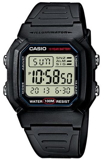 Электронные кварцевые мужские наручные часы Casio W-800H-1A купить в интернет магазине WorldOfWatch.ru