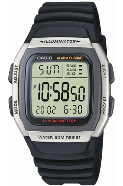 Электронные кварцевые мужские наручные часы Casio W-96H-1A купить в интернет магазине WorldOfWatch.ru